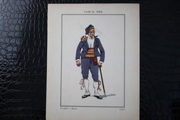 DH / For-18x23,5 Cm.Costumes Régionaux Par P. L. De GIAFFERRI -  [09] Ariège - Comté De Foix, Un Fiancé à Massat - Costumes