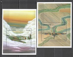 V741 GRENADA TRANSPORT AVIATION WAR WWII 2BL MNH - WO2