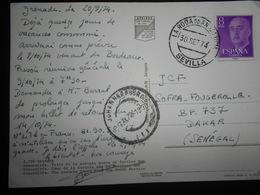 Espagne , Carte De Sevilla 1974 Pour Dakar - 1931-Oggi: 2. Rep. - ... Juan Carlos I