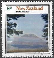 NEW ZEALAND 1973 Mountain Scenery -  8c - Mount Ngauruhoe FU - Usati