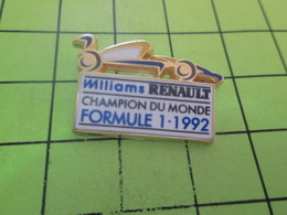 1015b Pins Pin's / Rare & Belle Qualité THEME AUTOMOBILES / RENAULT F1 1992 CHAMPION DU MONDE Par ARTHUS BERTRAND - F1