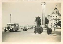 180719D - PHOTO 1935 - 06 NICE Promenade Des Anglais - Palmier Autobus - Hôtel LE NEGRESCO - Pubs, Hotels And Restaurants