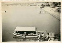 180719D - PHOTO 1935 - 06 NICE Le Scaphandrier - Mise à L'eau Mer Barque Bateau - Navegación - Puerto