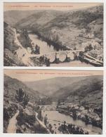 MF523 - LOT 2 CARTES ENTRAYGUES - Les Bords De La Truyère Vieux Pont Et La Vallée - Autres Communes