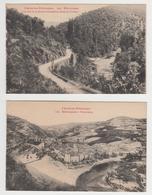 MF524 - LOT 2 CARTES ENTRAYGUES - Panorama Et Le Lot Et La Route D'Espalion - Altri Comuni