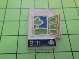 1215b Pins Pin's / Rare & Belle Qualité THEME INFORMATIQUE / BULL UNIX PAS WINDOW MAIS DOOR - Computers