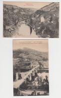 MF525 - LOT 2 CARTES ENTRAYGUES - Le Vieux Pont Et Hôtel Andrieu - La Nau De Leth - Autres Communes