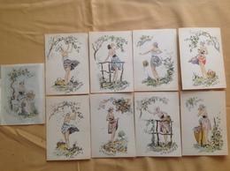 Série Naudy, Les Fruits X 8 Et Pochette Some Geogovs Fruits ( Barré & Dayez 1357 - Naudy