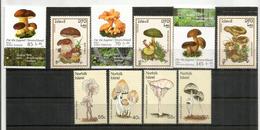 Champignons , 3 Séries Neuves ** De L'île Norfolk, Laos & Allemagne 2018. - Pilze