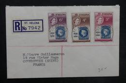SAINTE HÉLÈNE - Enveloppe En Recommandé De Ste Héléna En 1956 Pour La France, Affranchissement Plaisant - L 35180 - Sainte-Hélène