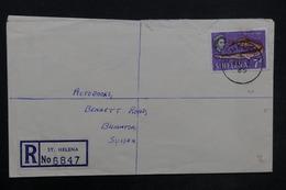 SAINTE HÉLÈNE - Enveloppe En Recommandé De Ste Héléna En 1965 Pour Brighton , Affranchissement Plaisant - L 35181 - Sainte-Hélène