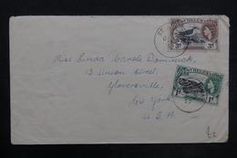SAINTE HÉLÈNE - Enveloppe De Ste Héléna En 1957 Pour New York, Affranchissement Plaisant - L 35182 - Sainte-Hélène