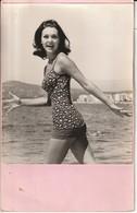 Photo 1966 Denise Perrier Ex Miss Monde  Avec Fiche Signalitique - Photographs