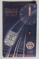 Ancien Plan Du Métro Compagnie Du Chemin De Fer Métropolitain De Paris 1939 - Europa