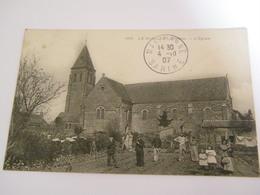 C.P.A.- Le Bailleul (72) - L'Eglise - Travaux De Jardinage - 1907 - SUP (CA 62) - France