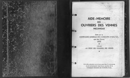 """Joli Petit Livret """"aide Mémoire Des Ouvriers Des Vennes Mécanique"""" De 1948, Exclusivement Réservé Aux Ouvriers De CGCE - Basteln"""