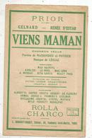 Partition Musicale Ancienne , VIENS MAMAN , Frais Fr 1.85e - Partituren