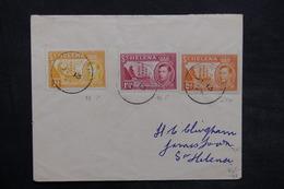 SAINTE HÉLÈNE - Enveloppe De Ste Héléna En 1954 En Port Local, Affranchissement Plaisant - L 35184 - Sainte-Hélène