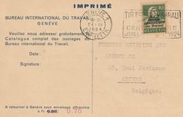 Suisse:Imprimé  Bureau  International  Du  Travail - Suisse