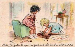 97Em  Germaine Bouret Fillettes Tricot Couture Robe Avec La Culotte à Totor - Bouret, Germaine