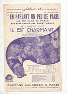 Partition Musicale Ancienne , EN PARLANT UN PEU DE PARIS , Frais Fr 1.85e - Partituren