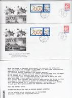 """AISNE """"DISTRIBUTION SPECIALE LE 1ER JANVIER 2000 / LA POSTE 02270 DERCY / COURRIER OBLITERE DU 31/12/1999"""" X 2 EXEMPLAIR - Marcophilie (Lettres)"""