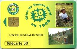 Catégorie Loisirs - Gîtes De France Nord En 1996 (20è Anniversaire) (Recto-Verso) - France