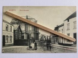 GENAPPE »RUE DE BRUXELLES»animée,maison PH.LUTTE-MARBRIER ,attelageÉdit Maison Decelle (M.Marcovoci). - Genappe