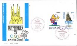 33465. Carta F.D.C. BARCELONA 1992. Olympic Games, Juegos Olimpicos, Mascota Y Sagrada Familia - 1931-Hoy: 2ª República - ... Juan Carlos I