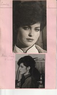 Photo Années 60 Marie France Pisier De Nice 06 Comédienne Avec Fiche Signalitique - Photographs