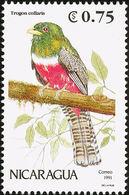 Nicaragua. 1991. Trogon Rosalba (Trogon Collaris) - Perroquets & Tropicaux