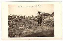 MILITARIA - 1915 - CARTE PHOTO - LA TARGETTE, Près NEUVILLE SAINT VAAST (62) - Scène De Guerre - Guerre 1914-18