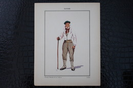 DH / For-18x23,5 Cm.Costumes Régionaux Par P. L. De GIAFFERRI -  [73] Savoie - Fermier Dansant De La Valloire - Costumes
