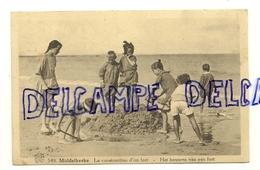 Côte Belge. Middellkerke. La Construction D'un Fort. 1932. Phototypie A. Dohmen. ALBERT - Middelkerke