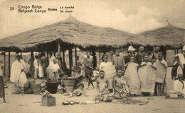 """CONGO BELGE BOMA """"le Marche"""" - Congo Belga - Otros"""