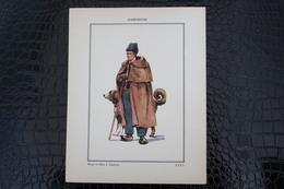 DH / For-18x23,5 Cm.Costumes Régionaux Par P. L. De GIAFFERRI - [32] Gers - Gascogne, Berger Et Chien à Cauterets - Costumes