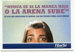 NUNCA SE SI LA MAREA BAJA O LA ARENA SUBE, FIBERTEL INTERNET - POSTAL PUBLICIDAD ARGENTINA AÑO 2009 - LILHU - Publicidad
