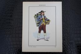 DH / For-18x23,5 Cm.Costumes Régionaux Par P. L. De GIAFFERRI -  [02] Aisne - Bourgogne, Gros Louis, Vendangeur - Costumes