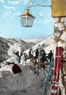 Cartolina Limone Piemonte Veduta Dal Cros Sci Sciatori Animata Anni '60 - Cuneo