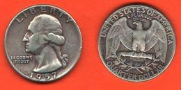 1/4  Dollaro1957 Washington Quarter Dollar USA America - 1932-1998: Washington