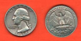 1/4  Dollaro 1958 D Washington Quarter Dollar USA America - 1932-1998: Washington