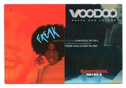 VOODOO, SNACK BAR LOUNGE, FUNKYSOUL RADIO FM - POSTAL PUBLICIDAD ARGENTINA AÑO 2000 - LILHU - Música Y Músicos