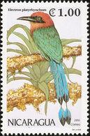 Nicaragua. 1991.   Motmot à Bec Large (Electron Platyrhynchum) - Perroquets & Tropicaux