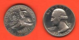 1/4 Dollaro 1976 S Bicentenary Quarter Dollar USA America Proof - 1932-1998: Washington