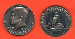 1/2 Dollaro 1976 S Bicentenary Kennedy Half Dollar USA America Proof - Emissioni Federali
