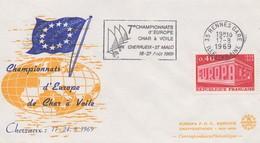 FR45  Flamme Du 17.8.69 - 7. Championnats D'Europe De Char à Voile  - Rennes Gare - Timbre Europa  TTB - Idées Européennes