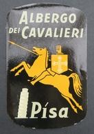 Ancienne étiquette Bagage Malle Valise HOTEL ALBERGO DEI CAVALIERI PISA PISE Old Original Luggage Label - Etiquettes D'hotels