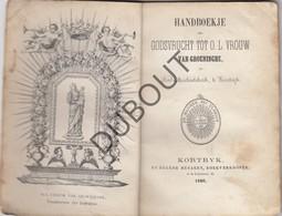 KORTRIJK Handboekje OLV Van Groeninghe Drukkerij Beyaert Kortryk 1860 (N802) - Oud
