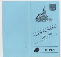 FOLDER JAARPROGRAMMA LOPPEM 1996 - 1996 - Seasons & Holidays