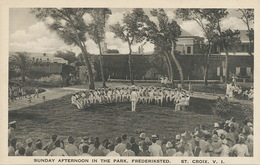 St Croix V.I.  Sunday Afternoon In The Park Frederiksted  Edit A. Ovesen - Vierges (Iles), Amér.